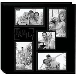 "Pioneer Collage Frame Embossed ""Family"" Black 240 Pocket Photo Album"