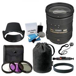 Nikon AF-S DX NIKKOR 18-200mm f/3.5-5.6G ED VR II Lens (White Box) + 72mm UV Filter Kit + 5 Piece Cleaning Kit + Cleaning Pen + Lens Band + Accessory Bundle - International Version (No Warranty)