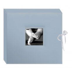 Pioneer 12x12 Memory Book Box,Photo Album Baby Blue With Ribbon Closure