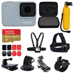 GoPro HERO7 White Waterproof Action Camera Complete Bundle