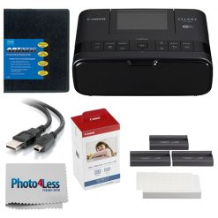 Canon SELPHY CP1300 Compact Photo Printer + KP-108IN Color Ink & Paper Bundle!