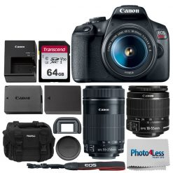 Canon EOS Rebel T7 DSLR Camera with 18-55mm and 55-250mm Lens