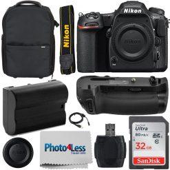 Nikon D500 DSLR Camera 20.9MP DX-Format Body +Battery Grip +Trolley Case Top Kit