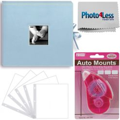 Pioneer Memory Photo Album Box Baby Blue + 5 Refill Pages + Adhesive Mounts