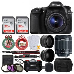 Canon EOS 80D DSLR Camera & EF-S 18-55mm Lens + Accessories