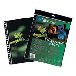 Itoya Art ProFolio PolyGlass, 10-Pack Multi-Ring Binder Refill Pages 16.5 x 23.4