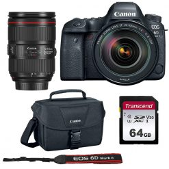Canon EOS 6D Mark II Camera + EF 24-105mm Lens + Bag + 64GB