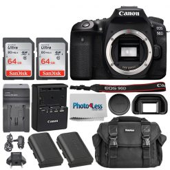 Canon EOS 90D DSLR Camera (Body Only) + Accessories bundle