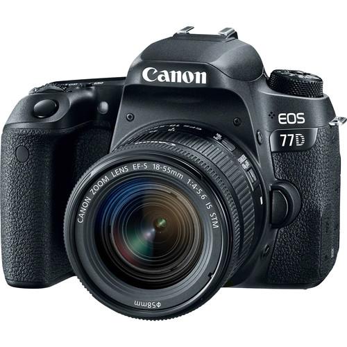 Canon EOS 77D Digital SLR Camera + 18-55mm IS STM Lens