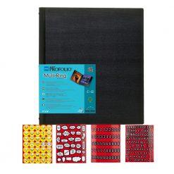 """Itoya Art Portfolio Multi-Ring Refillable Binder 18 x 24"""" + Emoji Stickers"""