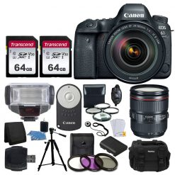 Canon EOS 6D Mark II DSLR Camera + EF 24-105mm USM Lens + Acc