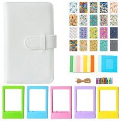 Fujifilm Instax Wallet Album (White) + Frames + Travel Stickers - Decorative Kit