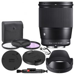 Sigma 16mm f/1.4 DC DN Contemporary Lens for Micro Four Thirds + Accessory Kit!