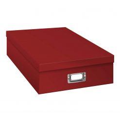 Pioneer Photo Album Scrapbook Storage Box, Bright Red