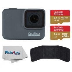 GoPro HERO7 Silver Waterproof Digital Action Camera+64GB Card+32GB Card+Wallet