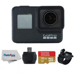 GoPro HERO7 Black-Waterproof Action Camera-4K HD Video+32GB Card+More
