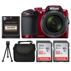 Nikon COOLPIX B500 16MP Wi-Fi Digital Camera (Red) + 3 Year Worldwide Warranty!