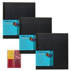 Itoya Art Portfolio Multi-Ring Refillable Binder 18 x 24 - 3 Pack + Stickers