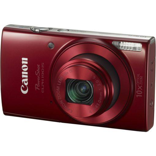 Canon PowerShot ELPH 190 IS Digital Camera Bundle (Red) + Top Value Accessories