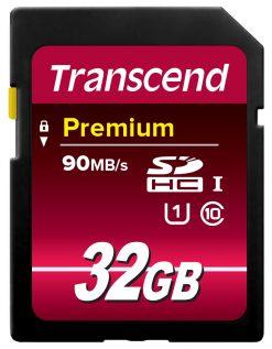 Transcend 32GB SDHC Memory Card Premium Class 10 UHS-I (Updated Version: 400X)