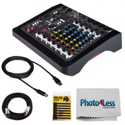 Allen & Heath ZEDi-10 Hybrid Compact Mixer/4x4 USB Interface + Mic Cable + USB Cable + Rip-Tie + Cleaning Cloth