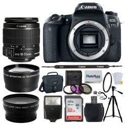 Canon EOS 77D DSLR Camera + EF-S 18-55mm IS STM Lens + Acc.