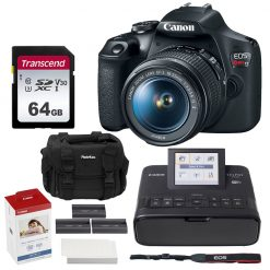 Canon EOS Rebel T7 Camera and EF-S 18-55mm f/3.5-5.6 IS II Lens + Accessories