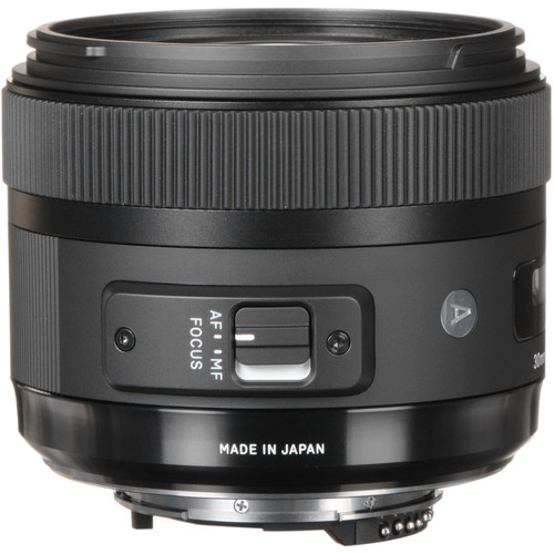 Sigma 30mm F1.4 Art DC HSM Lens for Nikon + 32GB SDHC Memory card + 24 Slot Memory Card Hardcase + 62mm 4 Piece Filters + USB Card Reader + Screen Protectors + Lens Cap Holder- Great Accessory Kit