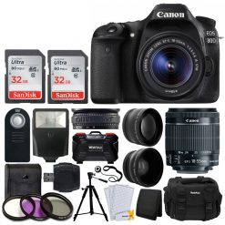 Canon EOS 80D DSLR Kit + EF-S 18-55mm STM Lens + More