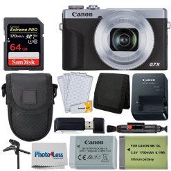 Canon PowerShot G7 X Mark III Digital Camera (Silver) Bundle