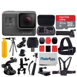GoPro HERO6 Black Sports Action Video Camera + 32GB Micro SD + More Accessories