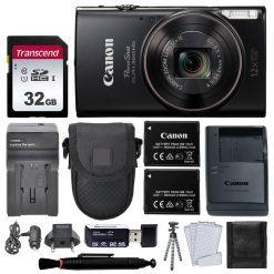 Canon PowerShot ELPH 360 HS Digital Camera (Black) + Top Value Accessories!