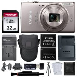 Canon PowerShot ELPH 360 HS Digital Camera (Silver) + Top Value Accessories!