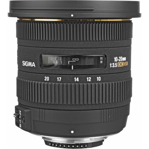 Sigma 10-20mm f/3.5 EX-DC HSM Lens for Nikon DSLR + More Great Value Bundle
