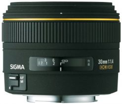Sigma Wide Angle 30mm f/1.4 EX DC Autofocus Lens for Minolta/Sony Digital SLR