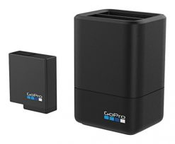GoPro Dual Battery Charger + Battery (HERO5 Black) (GoPro Official Accessory)