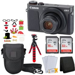 Canon PowerShot G9 X Mark II Camera Black + 32GB & 16GB Cards Full Bundle!