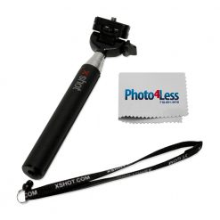 """XShot Pocket 30.5"""" Camera Extender + Photo4less Cleaning Cloth"""