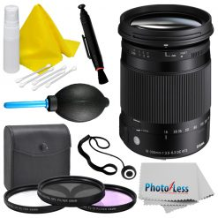 Sigma 18-300mm f/3.5-6.3 DC MACRO OS HSM Lens for Nikon F + Top Value Bundle!
