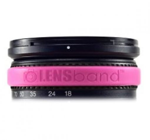 Lens Band Stop Zoom Creep for One Size Fits All Lens, Hot Pink