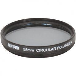 Sunpak 55mm Circular Polarizer CF-7058 CP Lens Filter