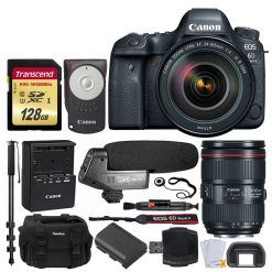 Canon EOS 6D Mark II Digital SLR Camera + EF 24-105mm f/4L IS II USM Lens –  Valued Bundle
