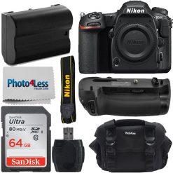 Nikon D500 DSLR Camera 20.9MP DX-Format Body +Battery Grip 64gb Top Accesory Kit