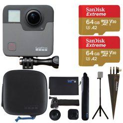 GoPro Fusion + 64GB Extreme + Spike Mount + Wrist Strap - Action Camera Bundle!