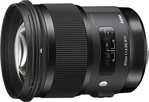 Sigma 50mm f/1.4 DG HSM Art Lens for Nikon F + 32GB Card + UV Filters + Tripod