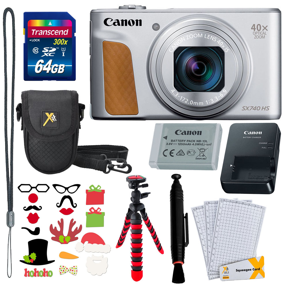 Photo4less Canon Powershot Sx740 Hs Digital Camera 64gb Card 12 Tripod Case Accessories