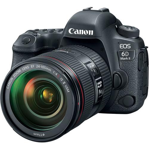 Canon EOS 6D Mark II Digital SLR Camera + EF 24-105mm f/4L IS II USM Lens –  Valued Bundle