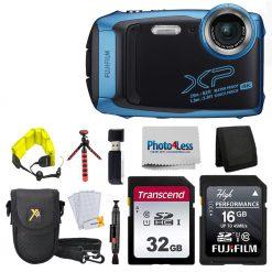 FujiFilm XP140 SKY BLUE  Bundle W/ SD Card