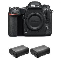 Nikon D500 Digital SLR Camera 24.3 MP CMOS DX-Format Body + 2x Extra Battery Kit