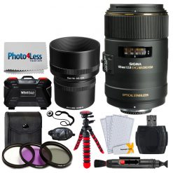 Sigma 105mm F2.8 EX DG OS HSM Macro Lens for Nikon + Top Value Bundle